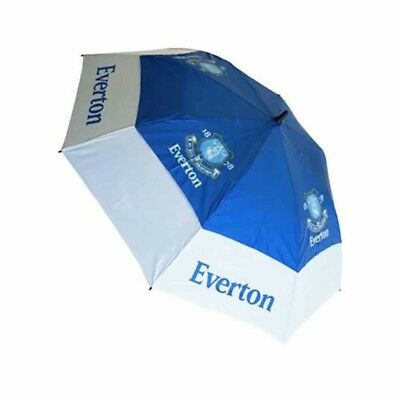 Everton Football Club Blue & White Double Canopy Golf Umbrella Free UK P&P