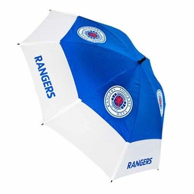 Rangers Football Club Blue & White Double Canopy Golf Umbrella Free UK P&P