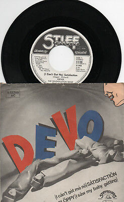 "S7 1977 CV "" DEVO  /  ( I Can't Get No ) Satisfaction "" PS  STIFF RECORDS"