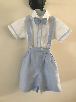 Baby Boys Pretty Originals Traditional Spanish Braces And Bow Tie Set 18 Months
