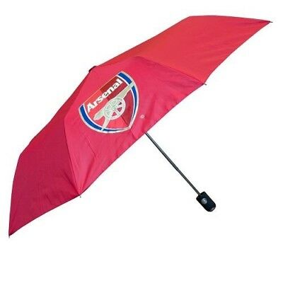 Arsenal Football Club Crested Red Compact Automatic Golf Umbrella Free UK P&P