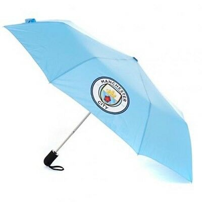 Manchester City Football Club Crest Compact Automatic Golf Umbrella Free P&P
