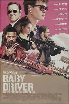BABY DRIVER MOVIE POSTER, USA Version (Size 24 x 36)