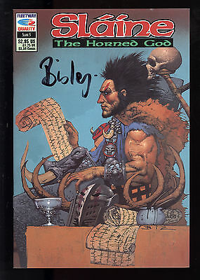 Slaine: The Horned God (1990) #5 Signed by Simon Bisley no COA First Print NM