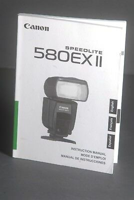 Canon Genuine 580EX II Speedlite Camera Flash Instruction Book / Manual / Guide
