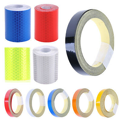 10pcs Car Reflective Stickers Warning Strip Safety Secure Adhesive Tapes #Z
