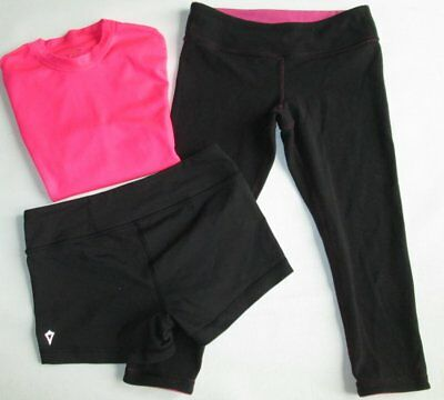 Ivivva Lululemon Tumblin Double Dutch Tank Tops Reversible Pants & Shorts 10/12