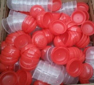500 Vending Red Capsules Empty 2 inch For Bulk Toys Machines  FREE FAST SHIPMENT