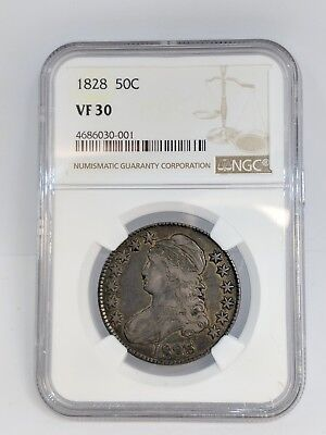 1828 Capped Bust Half Dollar 50C Coin NGC VF 30 - 4686030-001