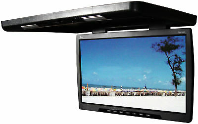 "Tview 24"" Flip Down Blacktft Lcd Monitor Remote Dual Dome Lights Black"