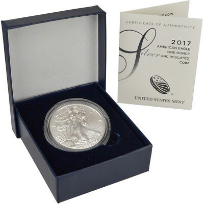 2017-W American Silver Eagle Uncirculated Collectors Burnished Coin (17EG)