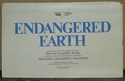1988 National Geographic Map of the Endangered Earth