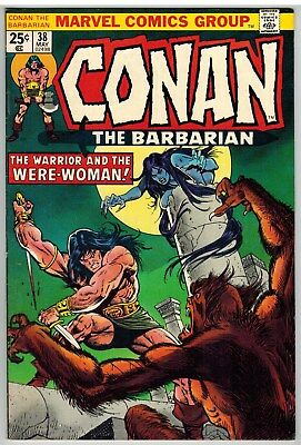 Conan The Barbarian #38 1974 Were-Woman Buscema Art Marvel Bronze Age Nice!