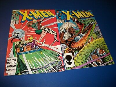 Uncanny X-men #223,224 Lot of 2 F to FVF Comic Books Colossus Wolverine Havok!
