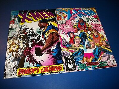 Uncanny X-men #282,283 Lot of 2 Byrne 1st Bishop Key Wow VF- to NM- gems