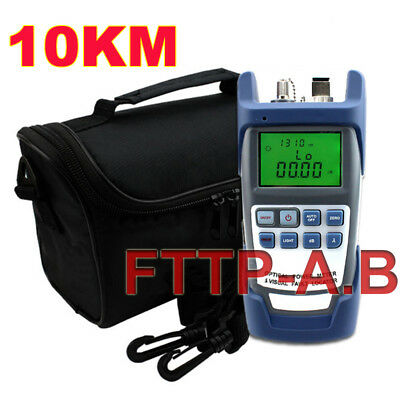 New All-in-One Fiber Optical Power Meter 10-12KM 10MW Visual Fault Locator+Bag