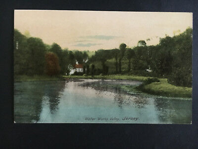 1943 Occupied Jersey England Picture Postcard First Day Cover Water Works Valley