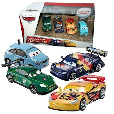 Disney Cars Cast 1:55 - Gift Pack Race Day Fan 2 - 4 Vehículos