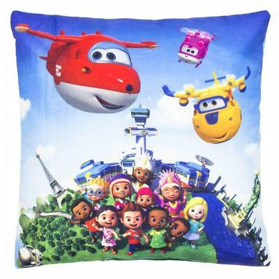 Sightseeing Flight | Almohada 35 x 35 cm | Super Wings | Niños Cojín Decoracion