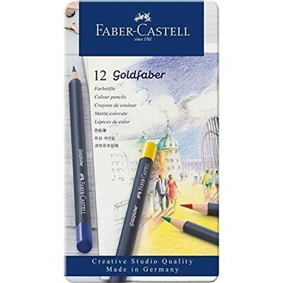 Faber-castell Creative Studio Goldfaber Wood Cased Color Pencils - Tin Of 12 -