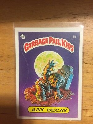 Garbage Pail Kids 1985 Jay Decay 5b Matte Card OS1 First Series NM-MINT