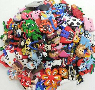 50pcs Lot Random Shoes Charms fit for Croc & Jibbitz Wholesale Cute Lovely Hot