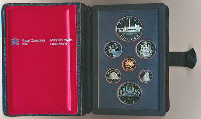 CANADA: 1984 Proof Set with Silver $1, Double Dollar - Toronto Sesquicentennial
