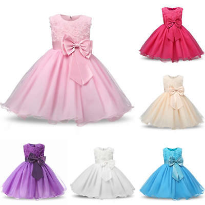 Baby Girl Wedding Dress Formal Ball Gown Party Pageant Party Princess Tulle Tutu