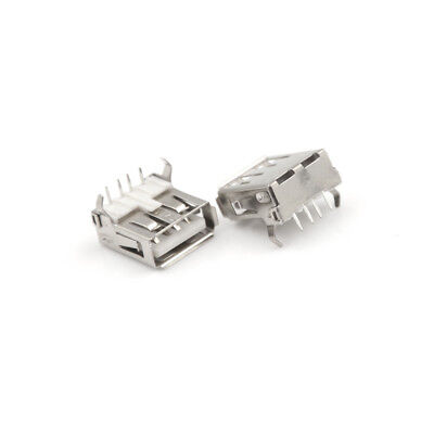 20pcs USB SMD 4Pin A Type Female Socket Jack Connector 90 degree Charging UK