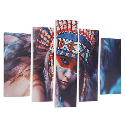 5Pcs Set Indian Woman Canvas Print Art Painting Wall Picture Modern Home Decor