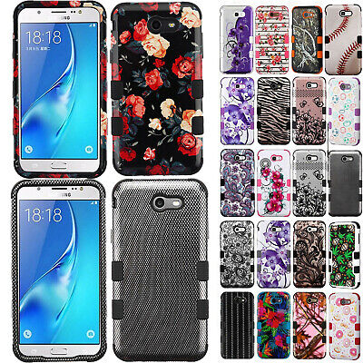 For Samsung Galaxy J7 Sky Pro IMPACT TUFF HYBRID Rubber Case Skin Phone Cover