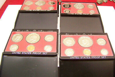 1977 US Mint  6 PC Clad Coin Proof Set - Lot of 4