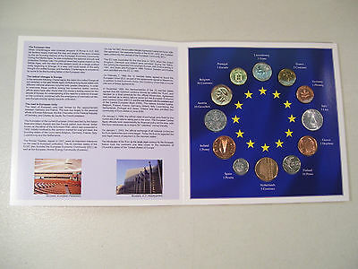 Euro-Zone Countries Collection Of The Last National Coins 12 Coin Set