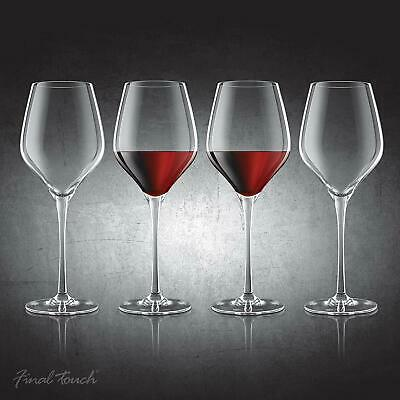 Final Touch Crystal Large RED WINE GLASSES Dinner Vintage Glassware 4 Pack UK