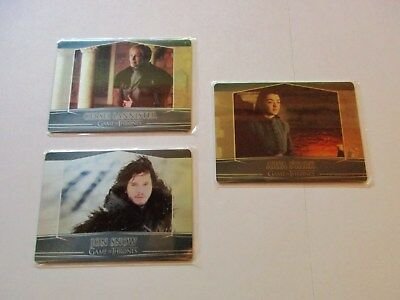 Game of Thrones Season 7 Complete Valyrian Steel Metal Case Topper Set 2a 5a 7a
