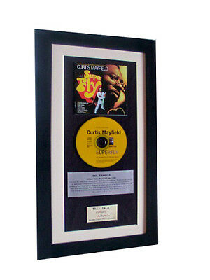 CURTIS MAYFIELD Superfly CLASSIC CD Album TOP QUALITY FRAMED+EXPRESS GLOBAL SHIP