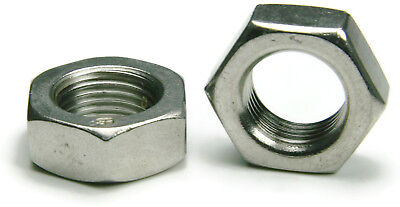 316 Stainless Steel Jam Thin Hex Nuts - All Sizes - QTY 100