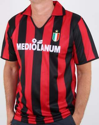 AC Milan 1988 Shirt in Red & Black - Score draw official replica, retro kit