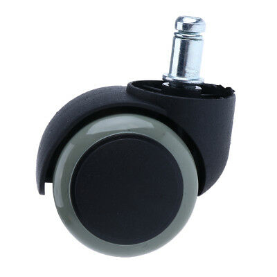 2'' Office Chair Caster Wheels Replacement Universal Swivel Wheel Rubber PU