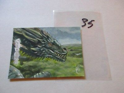 Game of Thrones Season 7 Hand Drawn Sketch Card by Lee Lightfoot - 35
