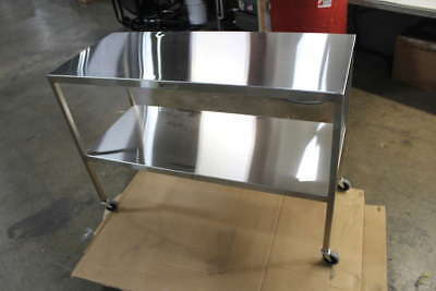 """Midcentral Medical 20""""Dx48""""Wx34""""H Stainless Steel Work Table"""