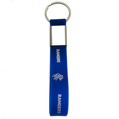 Rangers Football Club Official Silicone Key Ring Chain Team Crest Badge