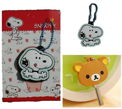 Key cap cover ring keyring bag charm dangler Snoopy, Rilakkuma Bear