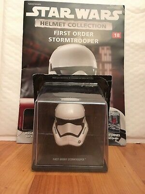 STAR WARS DEAGOSTINI REPLICA HELMET COLLECTION ISSUE 18 FIRST ORDER STORMTROOPER