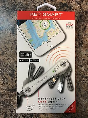 New Keysmart Pro Ks411R-White Key Organizer Holder Tile Smart Location Finder