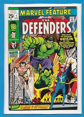 MARVEL FEATURE #1_DECEMBER 1971_FINE MINUS_1st DEFENDERS_SPECTACULAR 1st ISSUE!