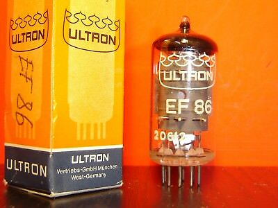 1x ULTRON EF86 6CF7 RÖHRE NEU IN OVP / NEW OLD STOCK IN BOX VACUUM TUBE
