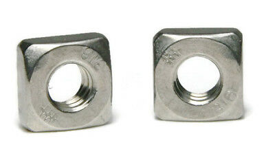 316 Stainless Steel Square Nuts - All Sizes - QTY 25