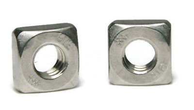 316 Stainless Steel Square Nuts - All Sizes - QTY 100