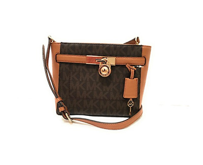 5a4d0b565acd2e Nwt Michael Kors Hamilton Traveler Medium Messenger Brown Acorn Pvc Leather  Bag